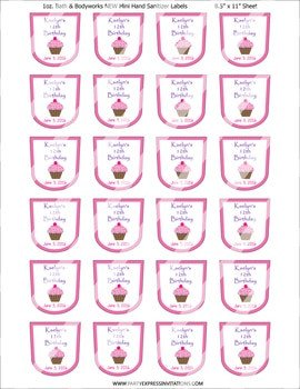Hand Sanitizer Label Template Free Disney Princess Tangled Birthday Balloon Arch Kit
