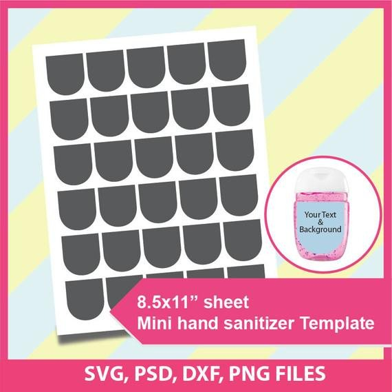 Hand Sanitizer Label Template Free Instant Download Mini Hand Sanitizer Template Psd Png and