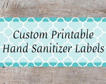 Hand Sanitizer Label Template Free Items Similar to Digital Cute Owls theme Personalized Hand