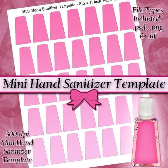 Hand Sanitizer Label Template Free Items Similar to Old Style Mini Hand Sanitizer Label