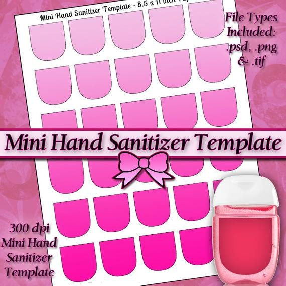 Hand Sanitizer Label Template Free New Mini Hand Sanitizer Label Digital Collage Sheet Template