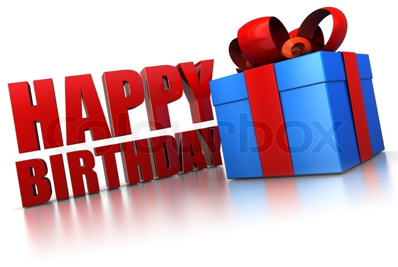 Happy Birthday 3d Image 3d Illustration Of Happy Birthday Sign and T Box