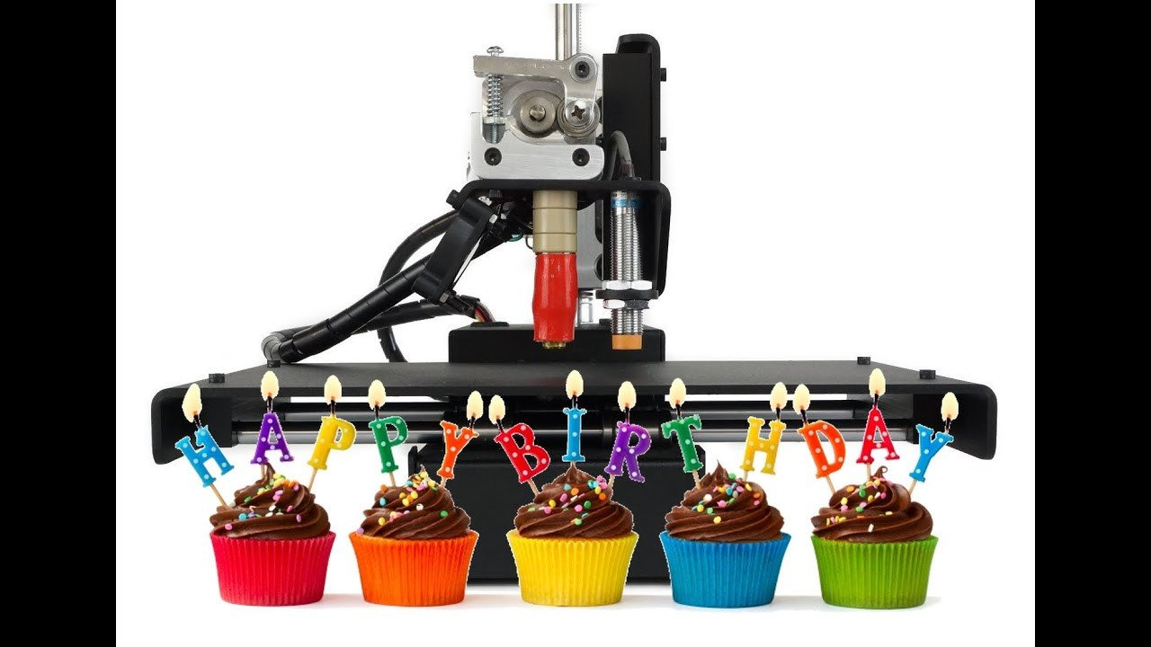 Happy Birthday 3d Image 3d Printer Playing Happy Birthday