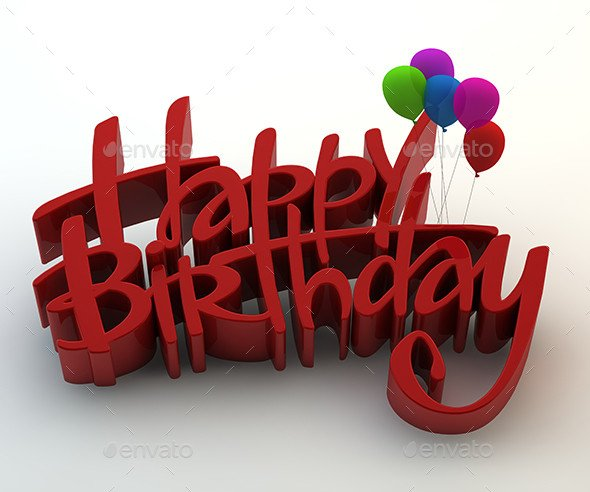 Happy Birthday 3d Image Happy Birthday 3d Text by Gokcengulenc