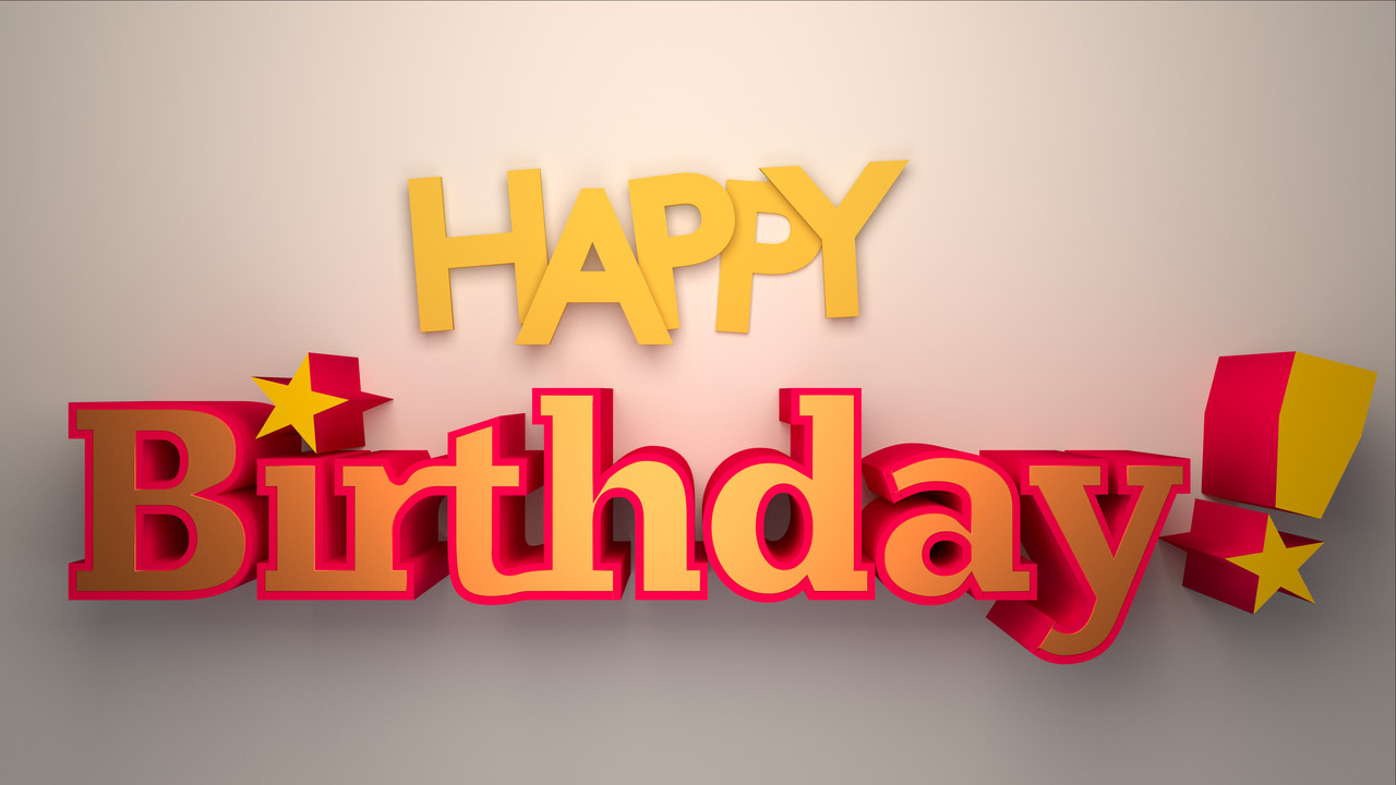 Happy Birthday 3d Image Happy Birthday 3d Typo by Johnpaul51 On Deviantart