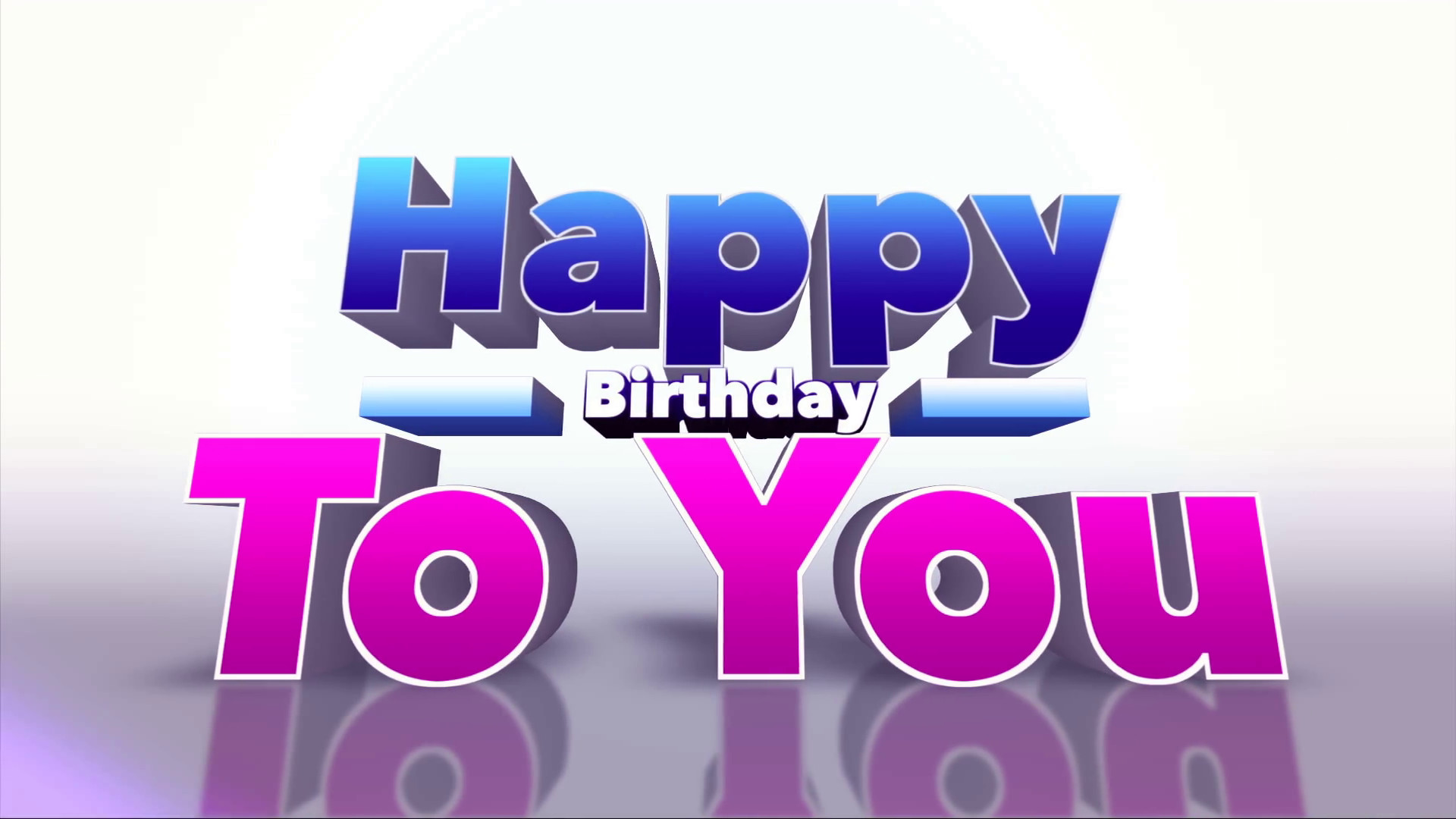 Happy Birthday 3d Image Happy Birthday to You Colourful 3d Motion Background