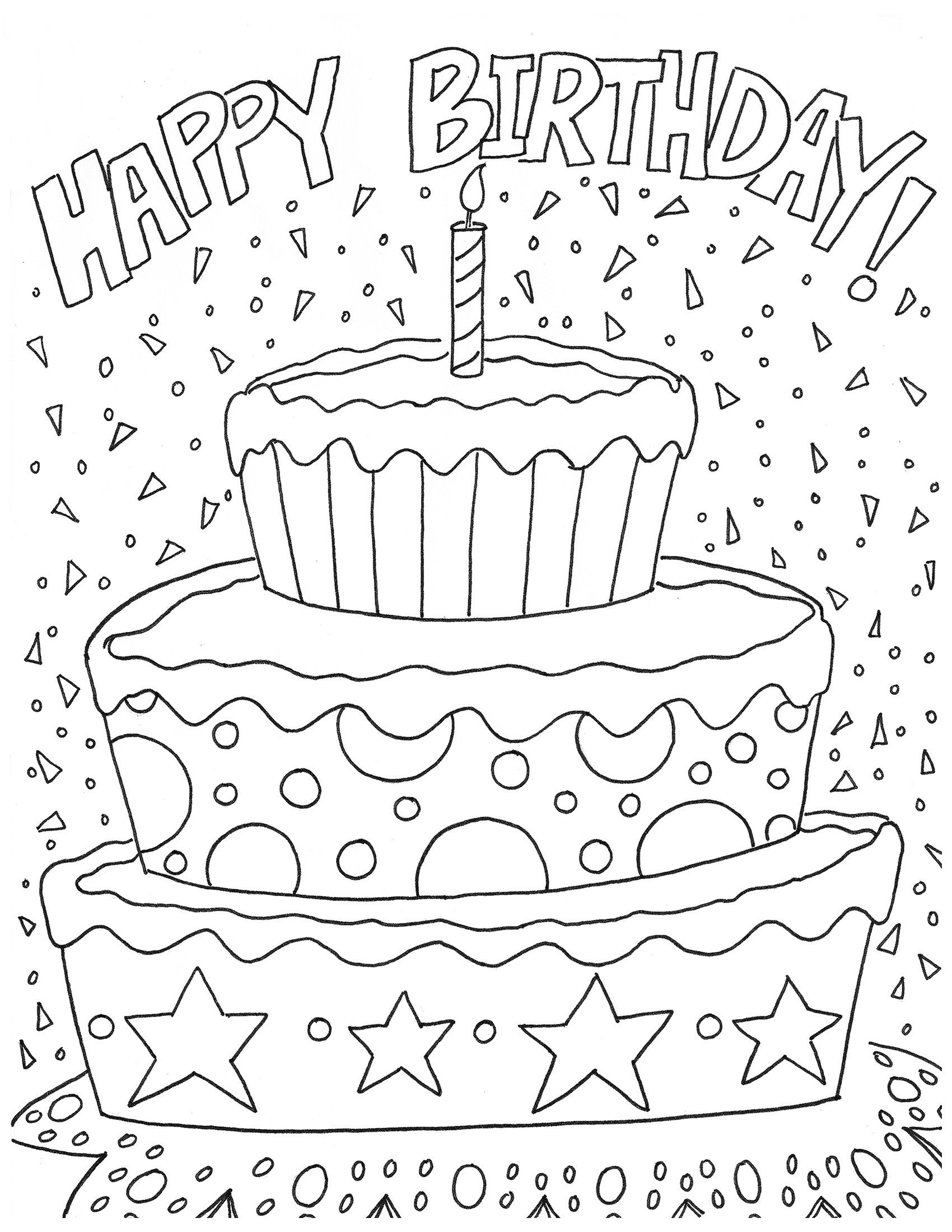 Happy Birthday Coloring Pages Artzycreations A Website On How to Do It Yourself