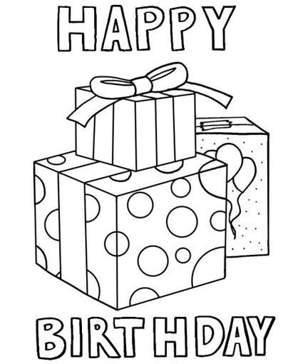 Happy Birthday Coloring Pages Happy Birthday Coloring Pages Birthdays