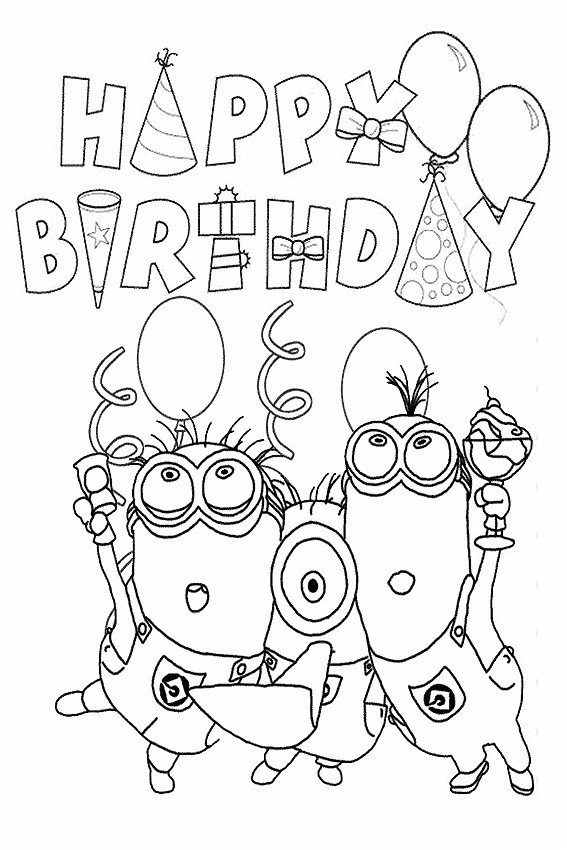 Happy Birthday Coloring Pages Happy Birthday Coloring Pages to Color In On Your Birthday
