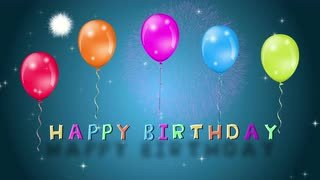 Happy Birthday High Definition Happy Birthday Text Animation Color Celebration