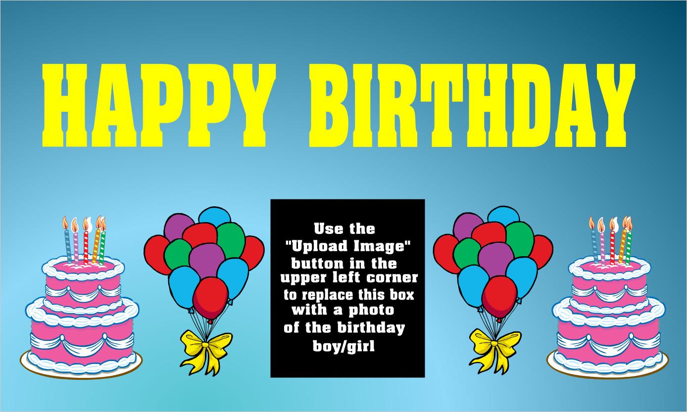 Happy Birthday Sign Template Custom Birthday Vinyl Banners Custom Birthday Vinyl Signs