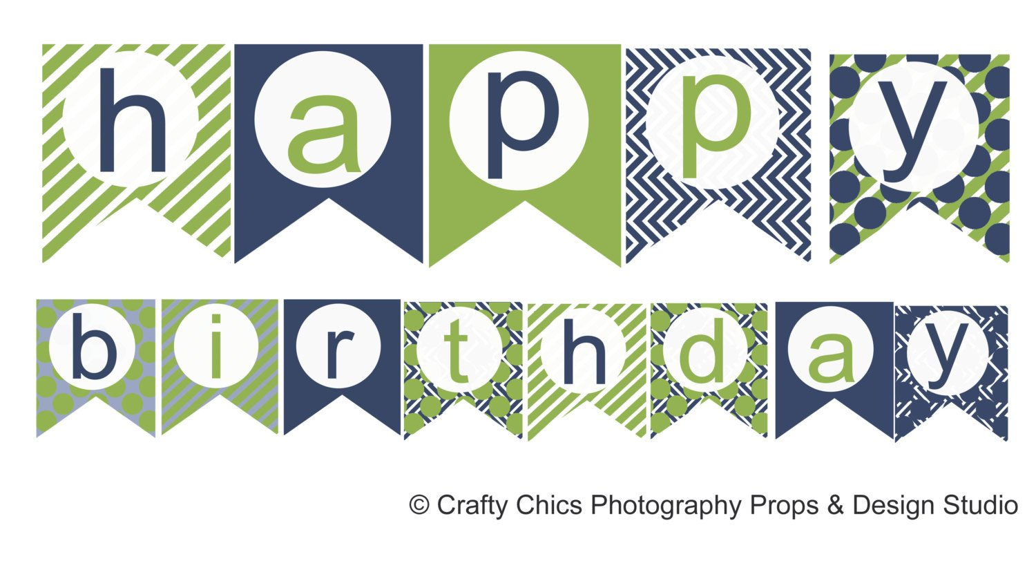 Happy Birthday Sign Template Diy Blue Green Happy Birthday Banner Printable