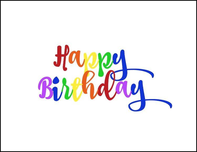 Happy Birthday Sign Template Free Rainbow Happy Birthday Printable Oh My Creative