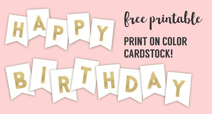 Happy Birthday Sign Template Happy Birthday Banner Printable Template Paper Trail Design