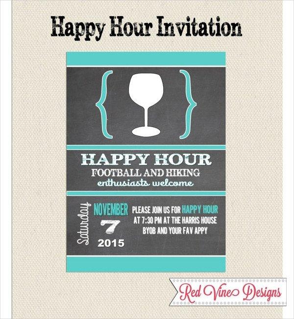 Happy Hour Invitation Template 14 Happy Hour Invitation Designs & Templates Psd Ai