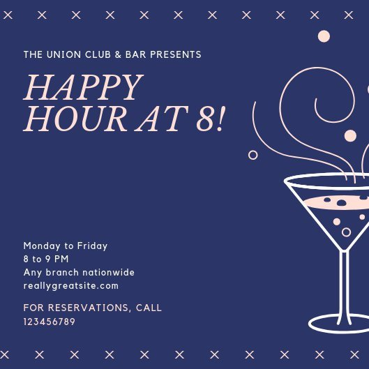 Happy Hour Invitation Template Customize 101 Happy Hour Invitation Templates Online Canva