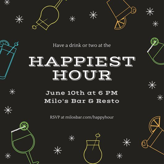 Happy Hour Invitation Template Customize 242 Happy Hour Invitation Templates Online Canva