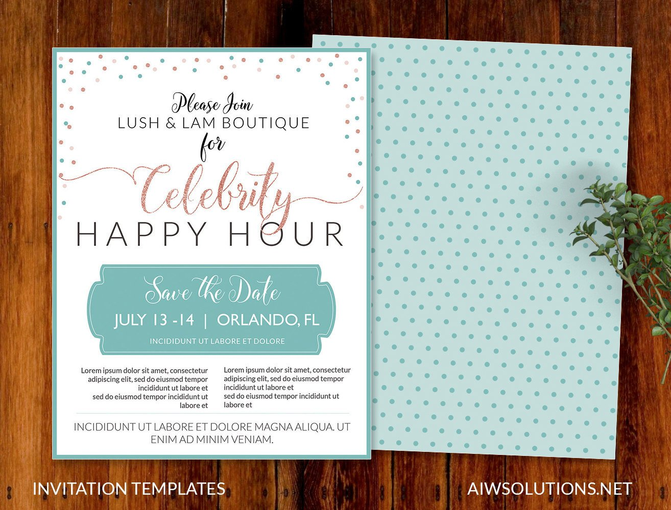 Happy Hour Invitation Template Product Promotion Flyer A4 Flyer Presentation Flyer