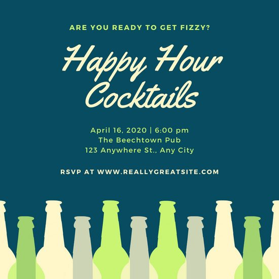 Happy Hour Invitation Templates Customize 73 Happy Hour Invitation Templates Online Canva
