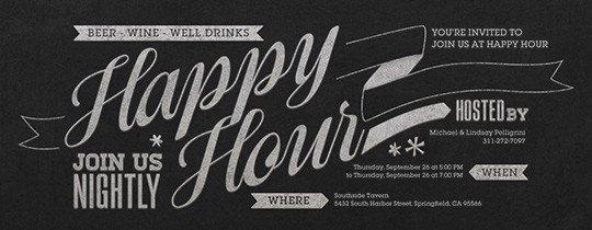 Happy Hour Invitation Templates Free Happy Hour Line Invitations Evite