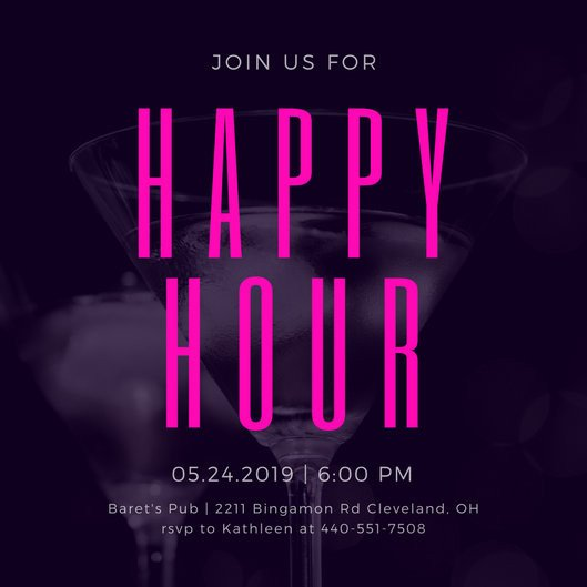 Happy Hour Invitation Templates Happy Hour Invitation Templates Canva