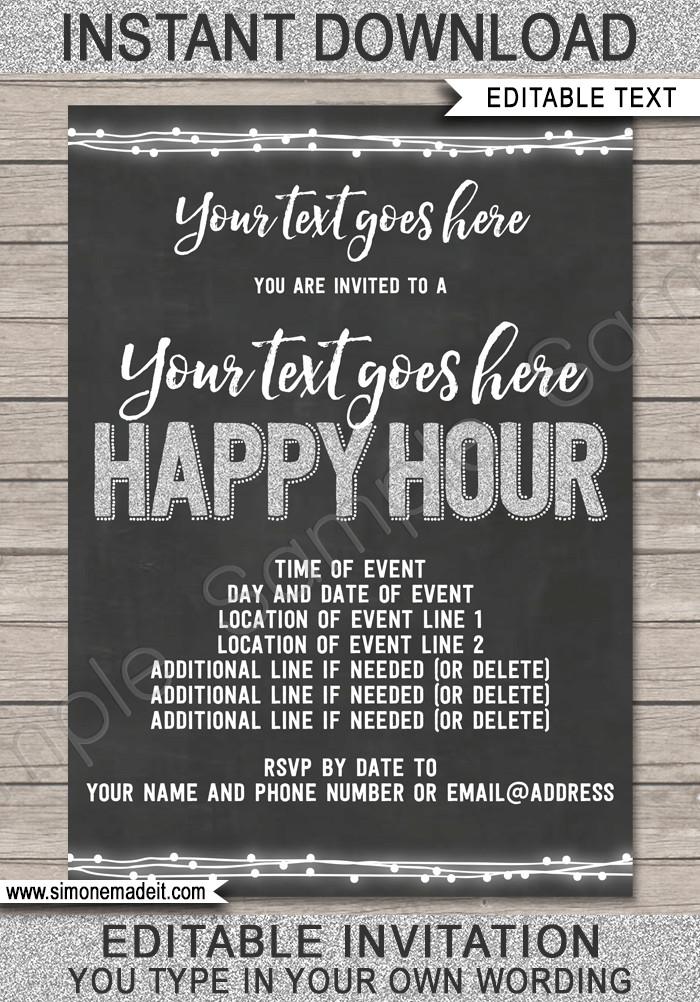 Happy Hour Invitation Templates Happy Hour Invite Template