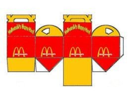 Happy Meal Box Template 17 Best Images About Mini Fast Food Burgers Pizza Fries