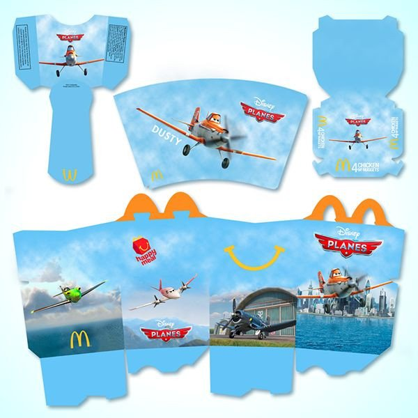 Happy Meal Box Template Mcdonald S Happy Meal Planes by Michael Biernat Via