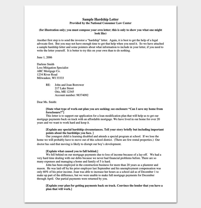 Hardship Letter to Creditors Template Hardship Letter Template 10 for Word Pdf format