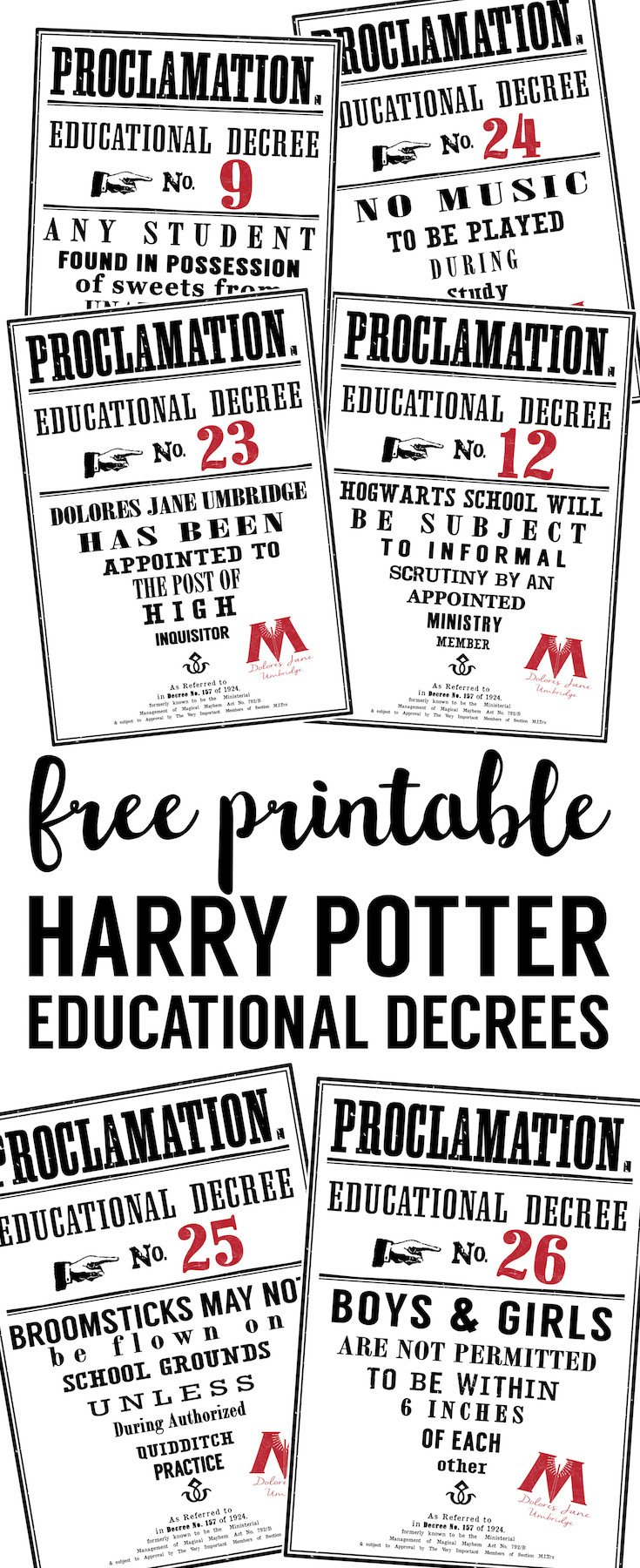 Harry Potter Proclamation Template Educational Decree Template