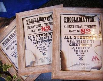 Harry Potter Proclamation Template Harry Potter Educational Decree Template Digital Download
