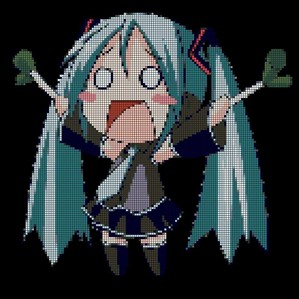 Hatsune Miku Pixel Art Grid Hatsune Miku Pixel Art by Nekomanhd On Deviantart