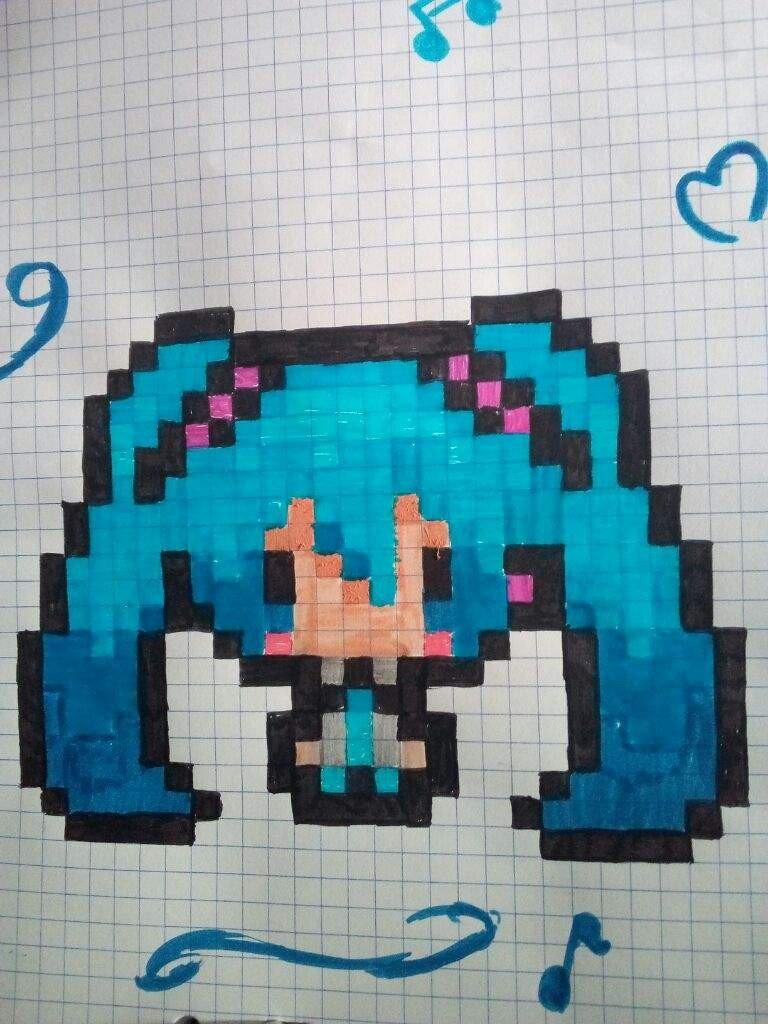 Hatsune Miku Pixel Art Grid Hatsune Miku Pixel Random Gallery