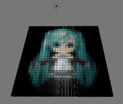 Hatsune Miku Pixel Art Grid Python the Inception Of List Prehension