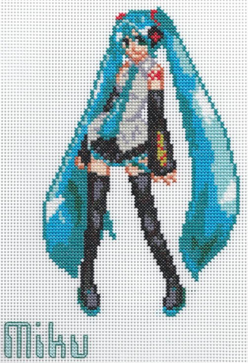 Hatsune Miku Pixel Art Grid X Stitch Fanart Miku Hatsune by Missy Tannenbaum On
