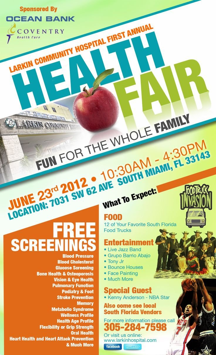 Health Fair Flyer Template Free 15 Best Images About Health Fair On Pinterest