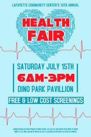 Health Fair Flyer Template Free Customize 1 090 Fundraising Poster Templates