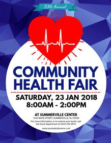 Health Fair Flyer Template Free Customize 1 310 Health Poster Templates