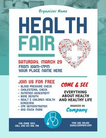 Health Fair Flyer Template Free Customize 1 910 Health Poster Templates