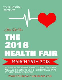 Health Fair Flyer Template Free event Flyer Templates
