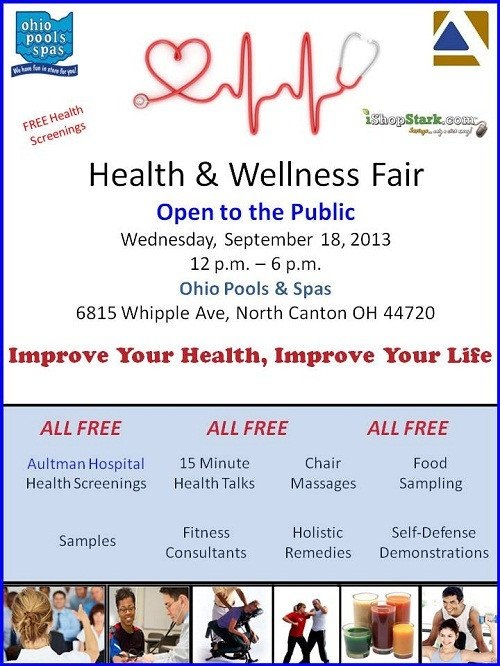 Health Fair Flyer Template Free Health & Wellness Fair Free Health Screenings In north