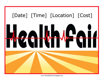 Health Fair Flyer Template Free Health Fair Flyer