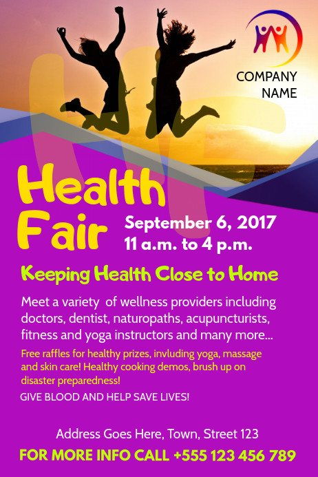 Health Fair Flyer Template Free Health Fair Flyer Template
