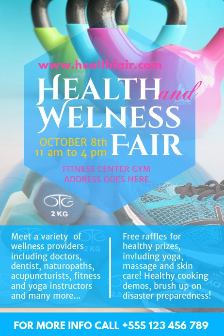 Health Fair Flyer Template Free Health Fair Poster Template