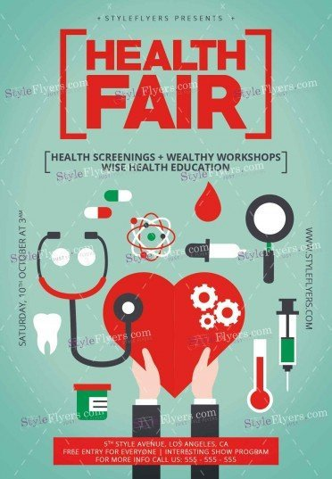 Health Fair Flyer Template Free Health Fair Psd Flyer Template Styleflyers