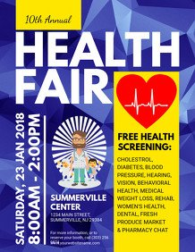 Health Fair Flyer Template Free Health Poster Templates