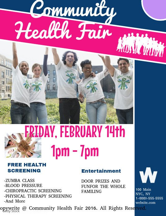 Health Fair Flyer Template Free Munity Health Fair Template