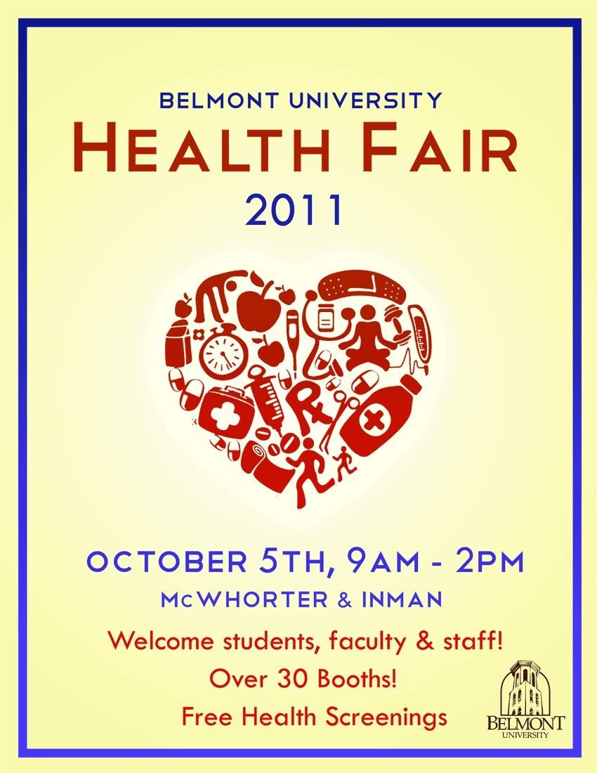 Health Fair Flyer Template Free Pin by Giovanni Figueroa On Health Fair Ideas