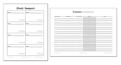 Health Fair Passport Template Free Printables Freezer Inventory and Food Passport
