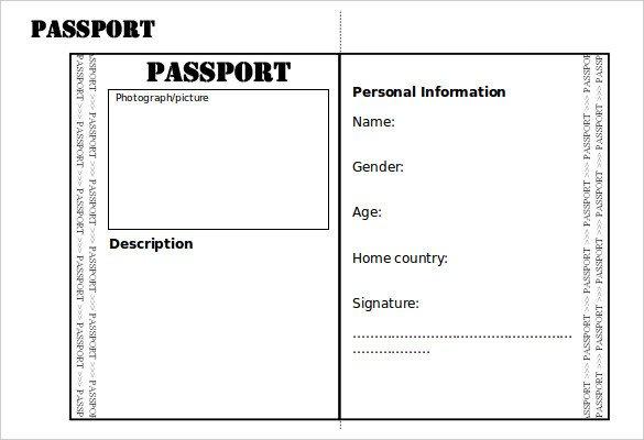 Health Fair Passport Template Health Fair Passport Template